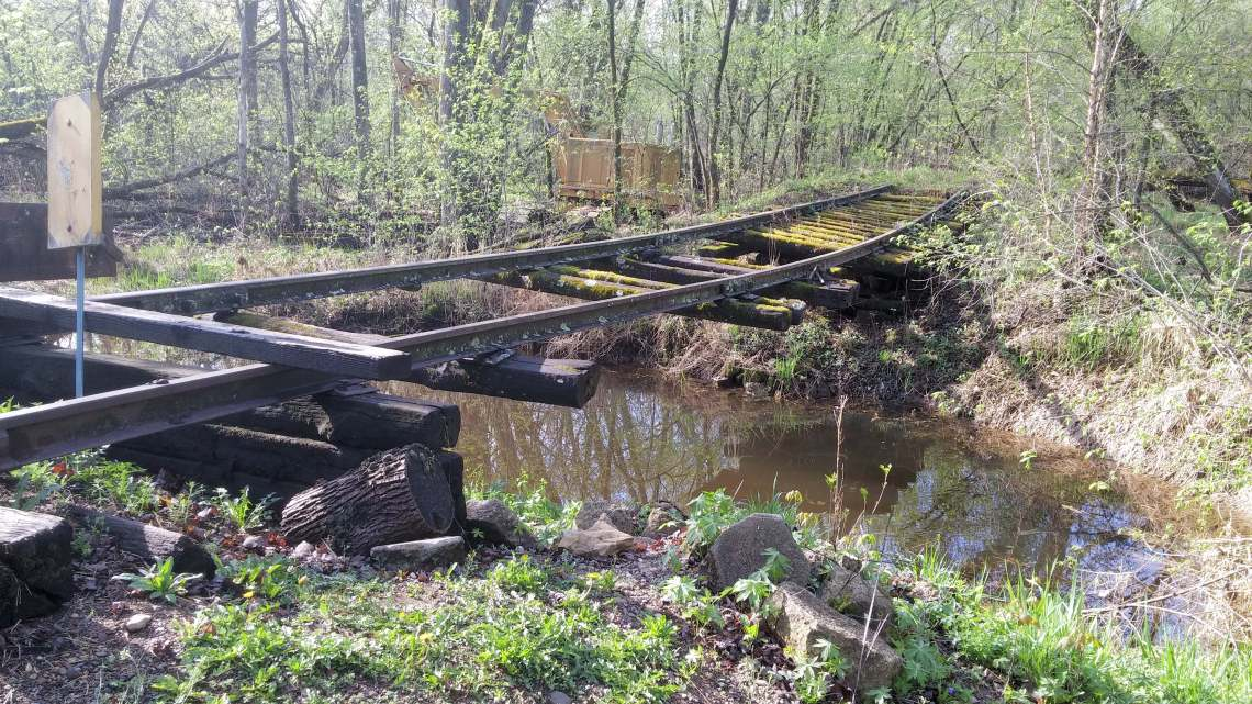 tracks over creek